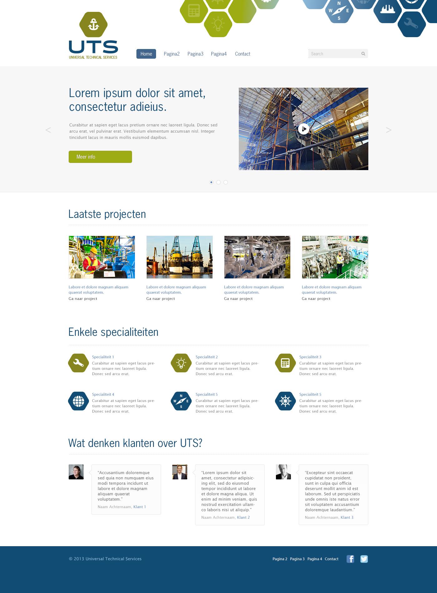 UTS concept webdesign
