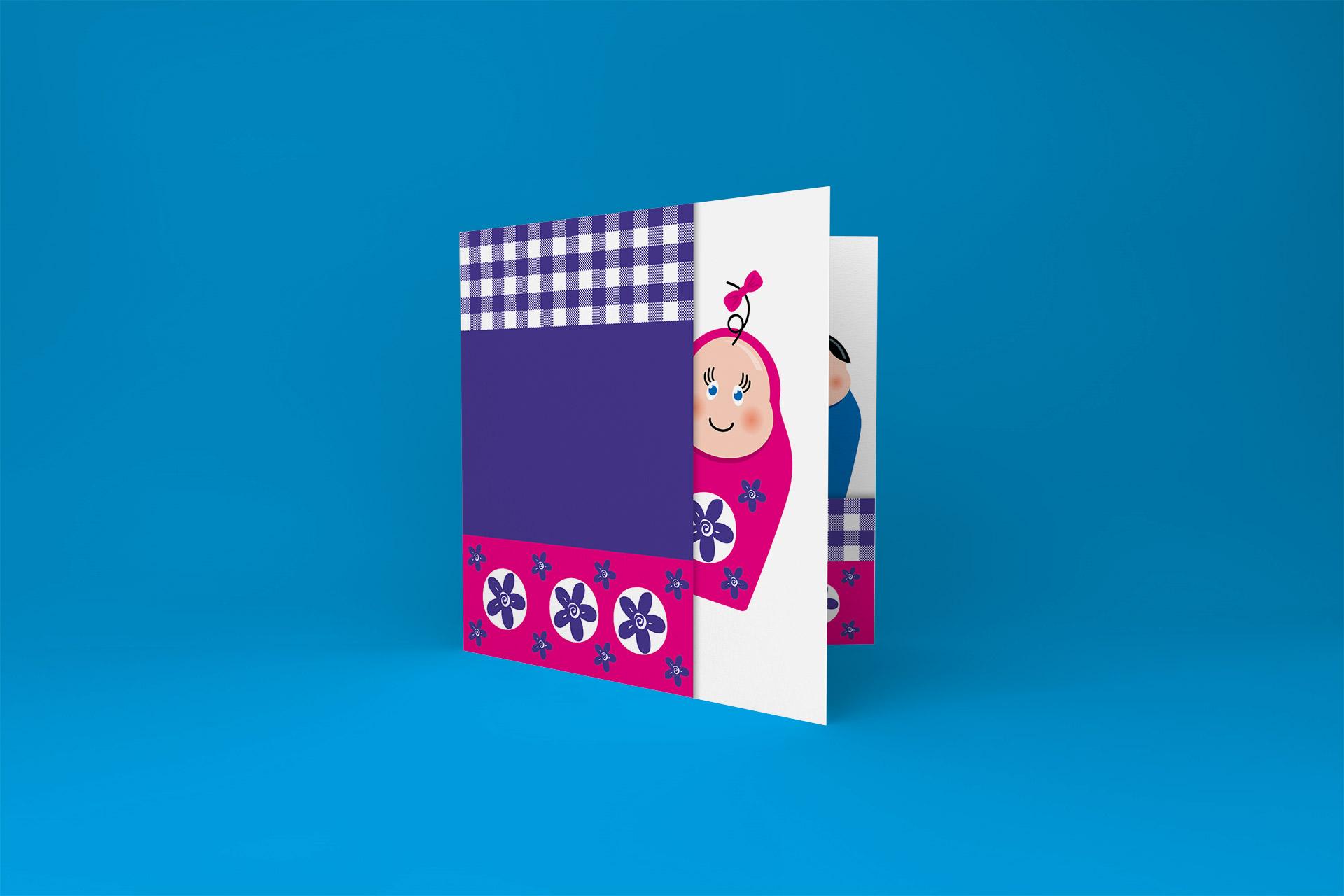Babydesign geboortekaartje  Anna Matruska Baby's