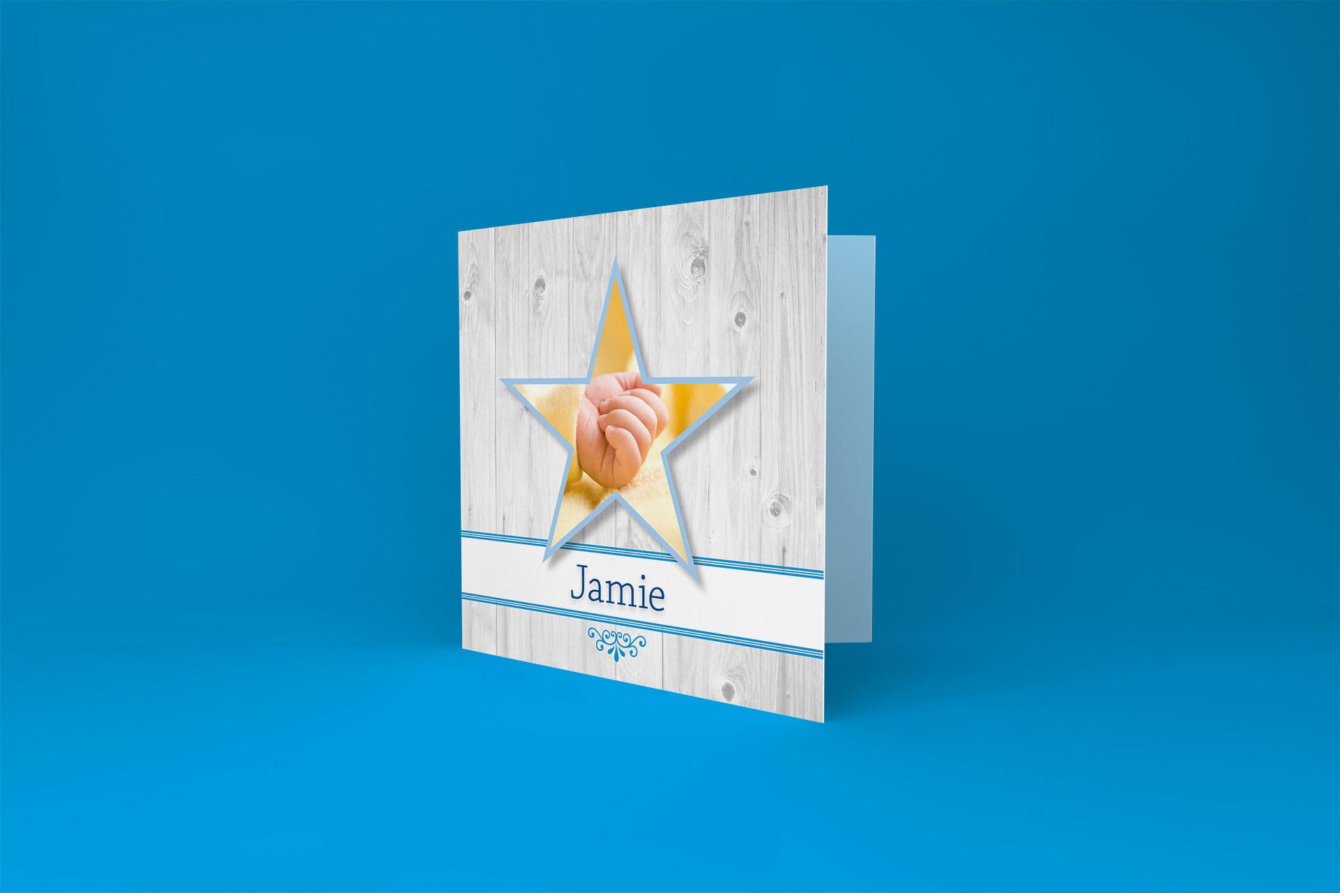 Babydesign geboortekaartje Jamie Photoshoot