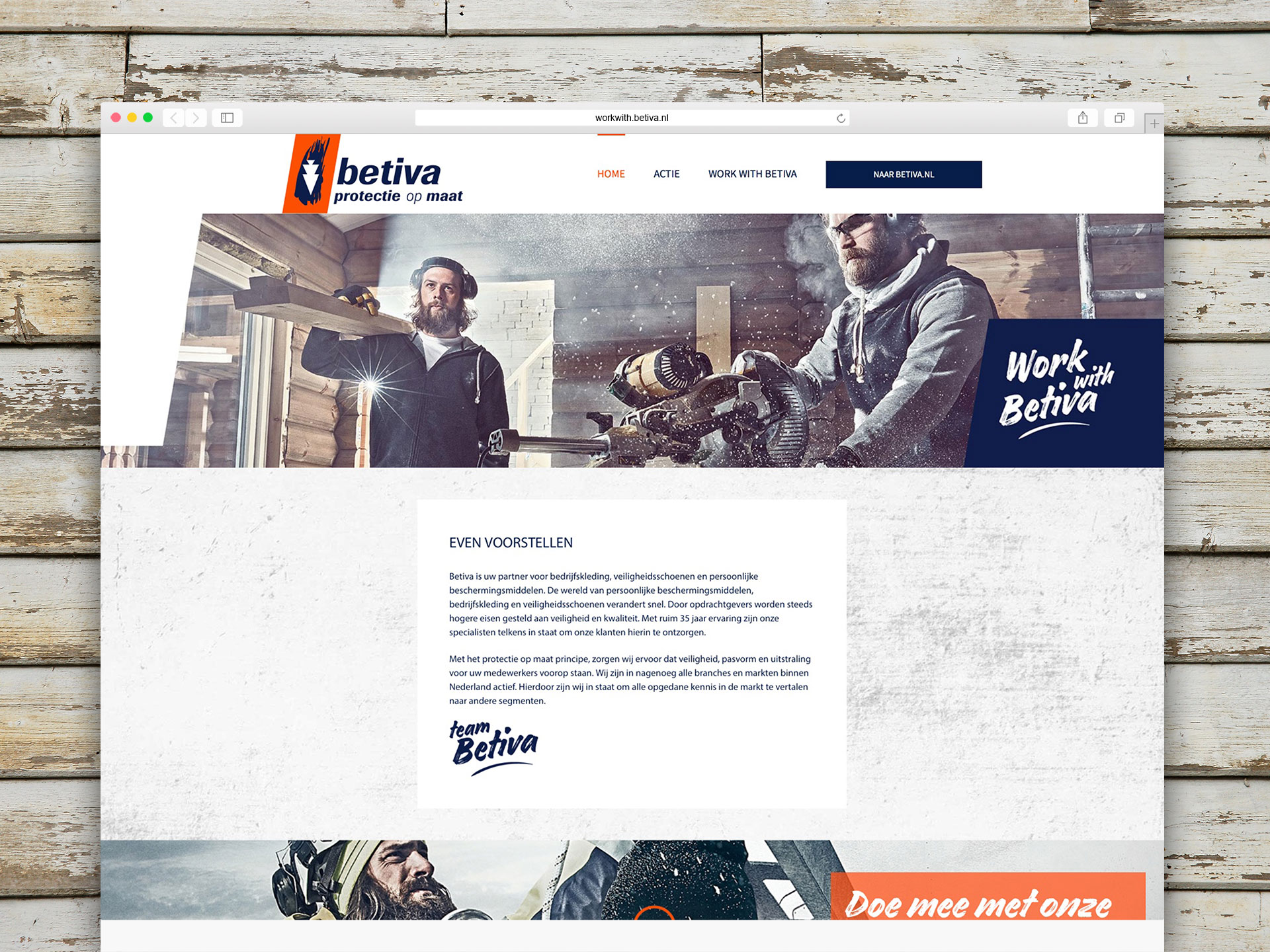 Work with Betiva – website